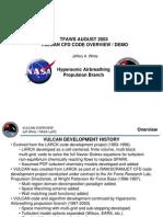 Vulcan Cfd Code Overview