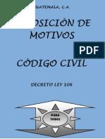 Exposición de motivos Código Civil