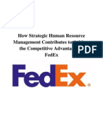 FEDEX Strategic HRM
