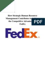 FEDEX Strategic HRM