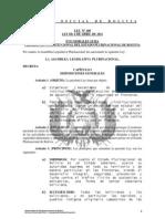 Ley 100 Ejecucion de Politicas de Desarrollo Integral y Seguridad en Fronteras