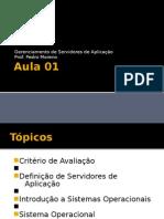Gerenciamento de Servidores de Aplicação AULA 1