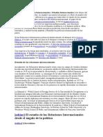 Los términos Relaciones Internacionales y Estudios Internacionales