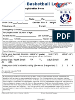 Youth Registration Form