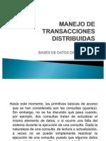 Manejo de Transacciones Distribuidas