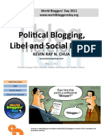 Political Blogging, Libel and Social Media
