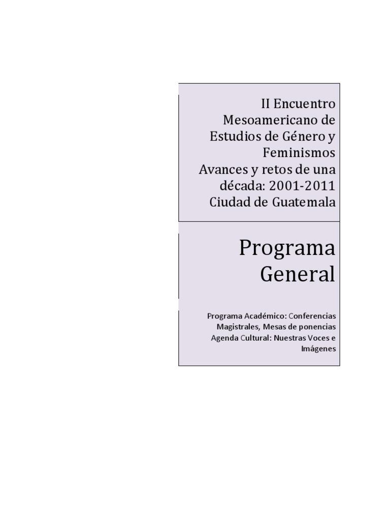 II Encuentro Mesoamericano de Estudios de Género y Feminismos