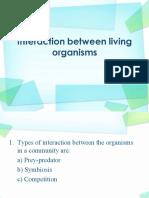 Interaction Between Living Organisms