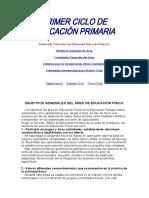 PRIMER CICLO DE EDUCACIÓN PRIMARIA