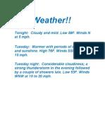 Weather!!