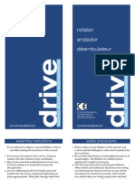 Go-Lite Deluxe Aluminum Rollator Owners Manual