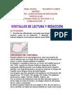 MINITALLER DE LECTURA Y REDACCIÓN