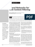 Neural Networks for Web Content Filtering