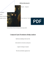 Composed Upon West Minster Bridge Analysis
