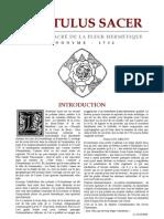 [Alchimie] Anonyme - Hortulus Sacer - L'enclos sacré de la Fleur Hermétique