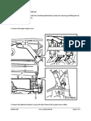 ISO-8859-1 Saab 9-5 Oil Sump Removal | Turbocharger ... on