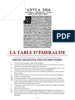 [Alchimie] Hermès Trismégiste - Tabula Smaragdina (Hortulain)
