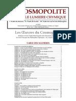 [Alchimie] Le Cosmopolite - Nouvelle Lumière Chymique