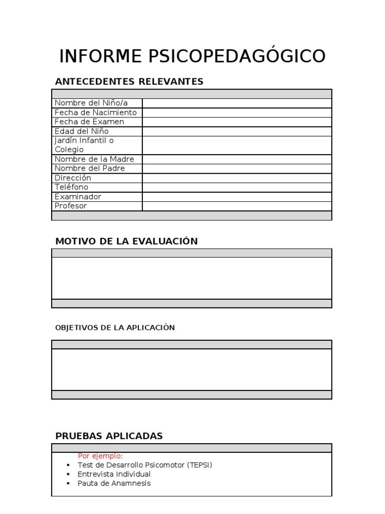 anamnesis psicopedagogica