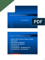 Windows Registry Presentation