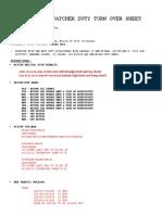 Flight Dispatcher Duty Turn Over Sheet Ctrl No 168[1]