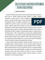 Cadrul Si Conditiile de Aplicare a Sanctiunilor Pentru Minori in Codul Penal in Vigoare