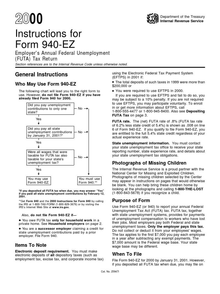 US Internal Revenue Service: i940ez--2000   Internal Revenue Service ...