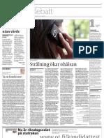 Strålning ökar ohälsan - Österbottens Tidning 11-4-2011