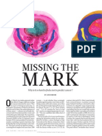 Why So Hard to Find a Test to Predict Cancer