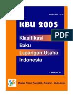 KBLI 2005