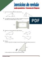Teorema de Pitágoras - Exercícios de revisão