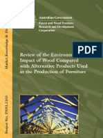 Review of the Environmental Impact of Wood Compared With Alternative Products Used in the Production of Furniture