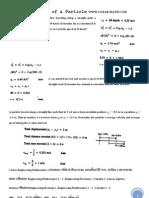 Dynamics Kinematics
