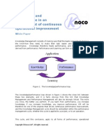 Knoco White Paper - KM and Performance