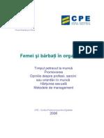 Femei Si Barbati in Organizatii