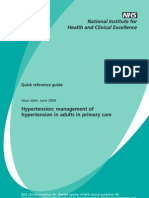 Nice Guideline Quick Reference of Hypertension June 2006
