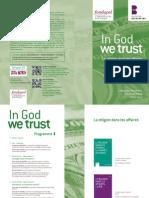 """Colloque """"In God we trust"""""""