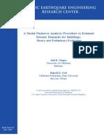 A Modal Pushover Analysis Procedure to Estimate