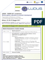 Conference LUDUS Programma