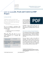 How to Schedule an ERP Project
