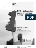 TH10 (Unleash the Power of Business Metrics (Michael Ford CA)
