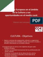 Programas Europeos en el ámbito de la Cultura