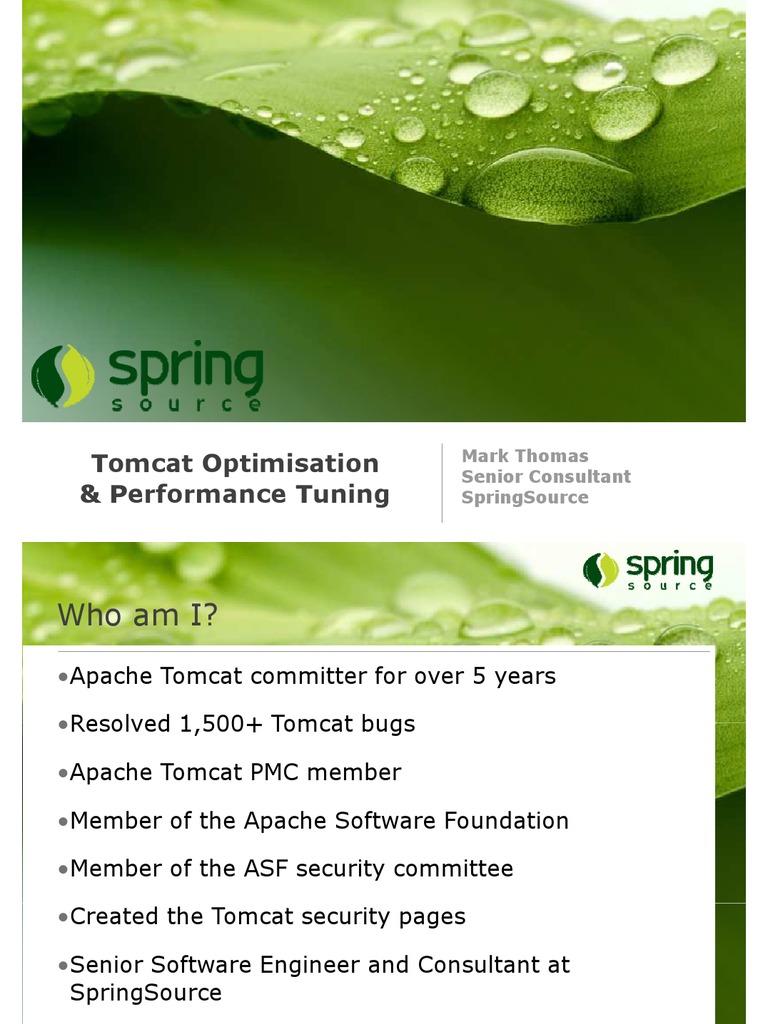 05 Tomcat Mark Thomas | Program Optimization | Load Balancing