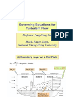 Governing Equations for Turbulent Flow