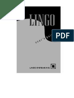 Lingo Users Manual | Mathematical Optimization | Linear
