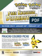 Pokémon Distribution 2010