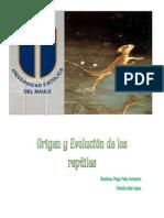Origen Evolucion Reptiles