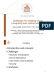 2 - Challenges for Enabling Cloud Computing Over Optical Networks