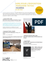 Derniers jours de l'expo Tayou / Nuit des Musées