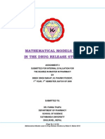 MATHEMATICAL MODELS USED  IN THE DRUG RELEASE STUDIES